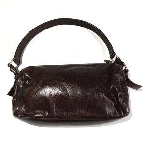 Sundance | Brown Cracked Leather Shoulder Purse